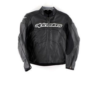 Alpinestars Leather Padded Motorcycle Jacket